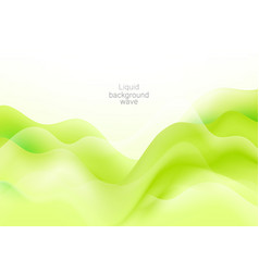 A green abstract wave background wave flow vector