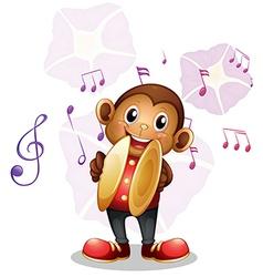 A musical monkey vector