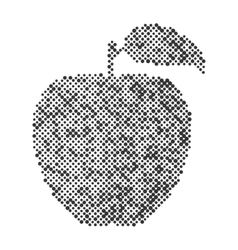 Abstract apple isolated dot design icon vector