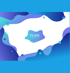 abstract fluid shape gradient blue color isolated vector image