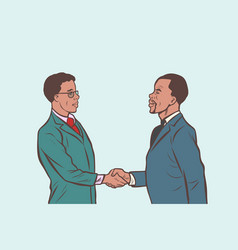 african businessmen handshake deal vector image