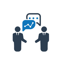 Analytical discussion icon vector