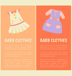 baby clothes two colorful vector image