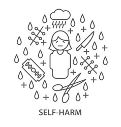 Banners for self harm vector