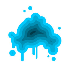 blue cloud abstract isolated on white background vector image