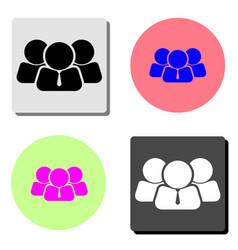 businessman leadership icon flat icon vector image