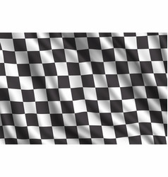 Car rally racing 3d realistic flag vector