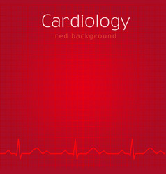 Cardiology red background vector