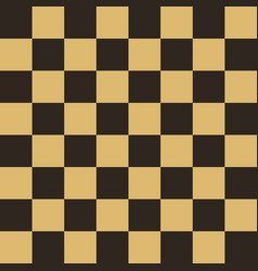 Chess field in beige and black colors vector