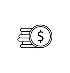 coin dollar icon element of finance signs and vector image