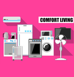 comfort lifestyle in flat vector image