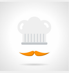 cook services flat color icon vector image