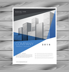 Corporate blue business annual report flyer vector