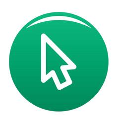 cursor retro element icon green vector image