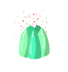 cute cartoon jelly with sprinkles vector image