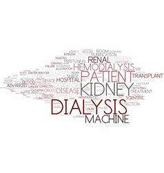 Dialysis word cloud concept vector