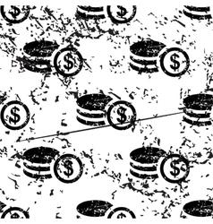 Dollar rouleau pattern grunge monochrome vector