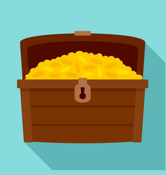 Dower chest icon flat style vector