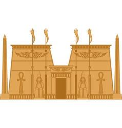 Egiptian Temple vector