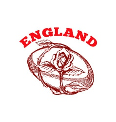england rugby team vector image
