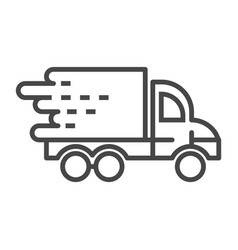 fast truck delivery icon outline style vector image