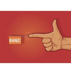 Finger gun vector