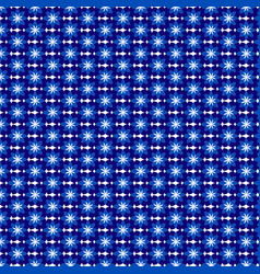 floral pattern white and blue flowers for vector image