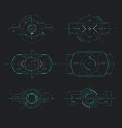 futuristic display control navigation panel hud vector image