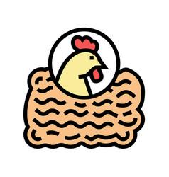 Ground chicken color icon vector