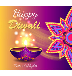 Happy diwali promo poster vector