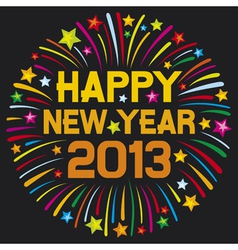 Happy new year 2013 firework vector
