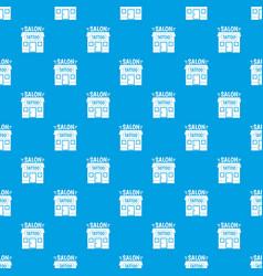 house tattoo salon pattern seamless blue vector image