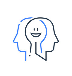 Human head profile cognitive psychology vector