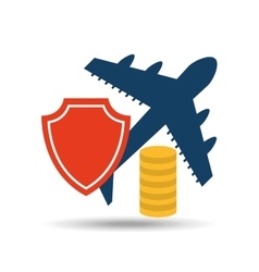 Insurance airplane airport money design vector