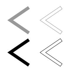Kenaz rune kanu symbol ulcer torch icon set grey vector