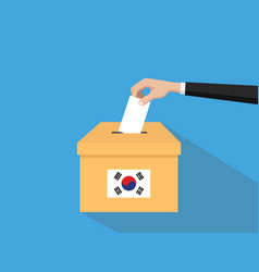 korea election vote concept with vector image