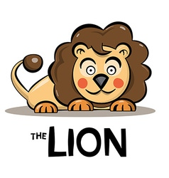 Lion Cartoon - Cute Animal Isolated on White vector