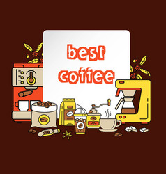 modern icons for coffee shop and coffee house vector image