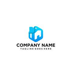 Modern real estate logo vector