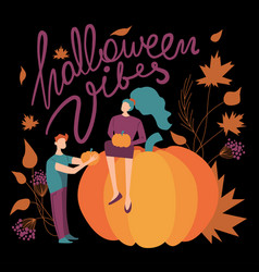 moody colorful halloween vibes vector image