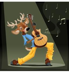 Musician deer vector