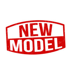 New model sign or stamp vector