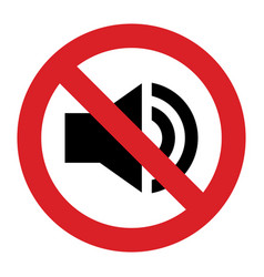 No sound sign vector