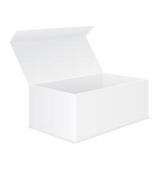 Open white box mockup vector