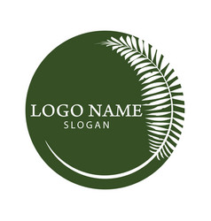palm tree logo vector image