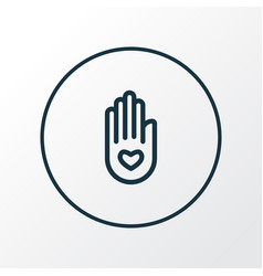 peace hand icon line symbol premium quality vector image