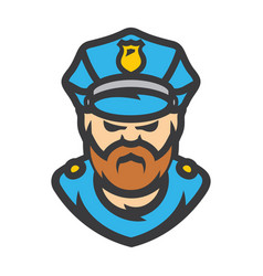 Policeman cartoon vector