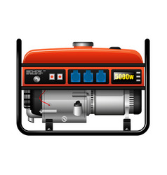 Portable electric generator power outage vector