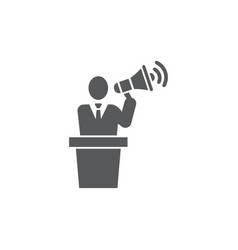 Publicity icon on white background vector