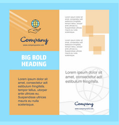 Safe world company brochure title page design vector